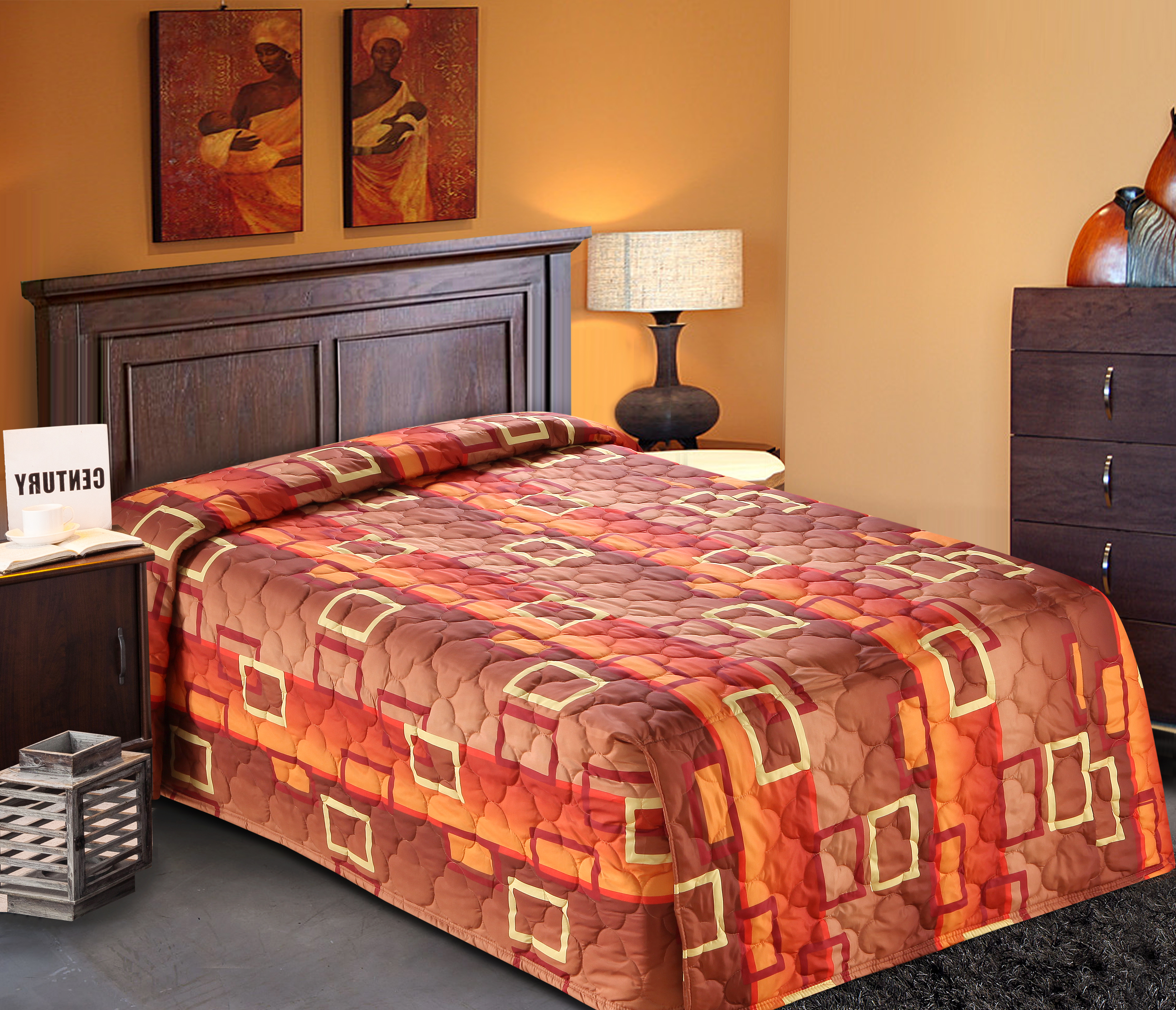 Orange Bedspread Throw Amp Waterfall Styles Everest Supply