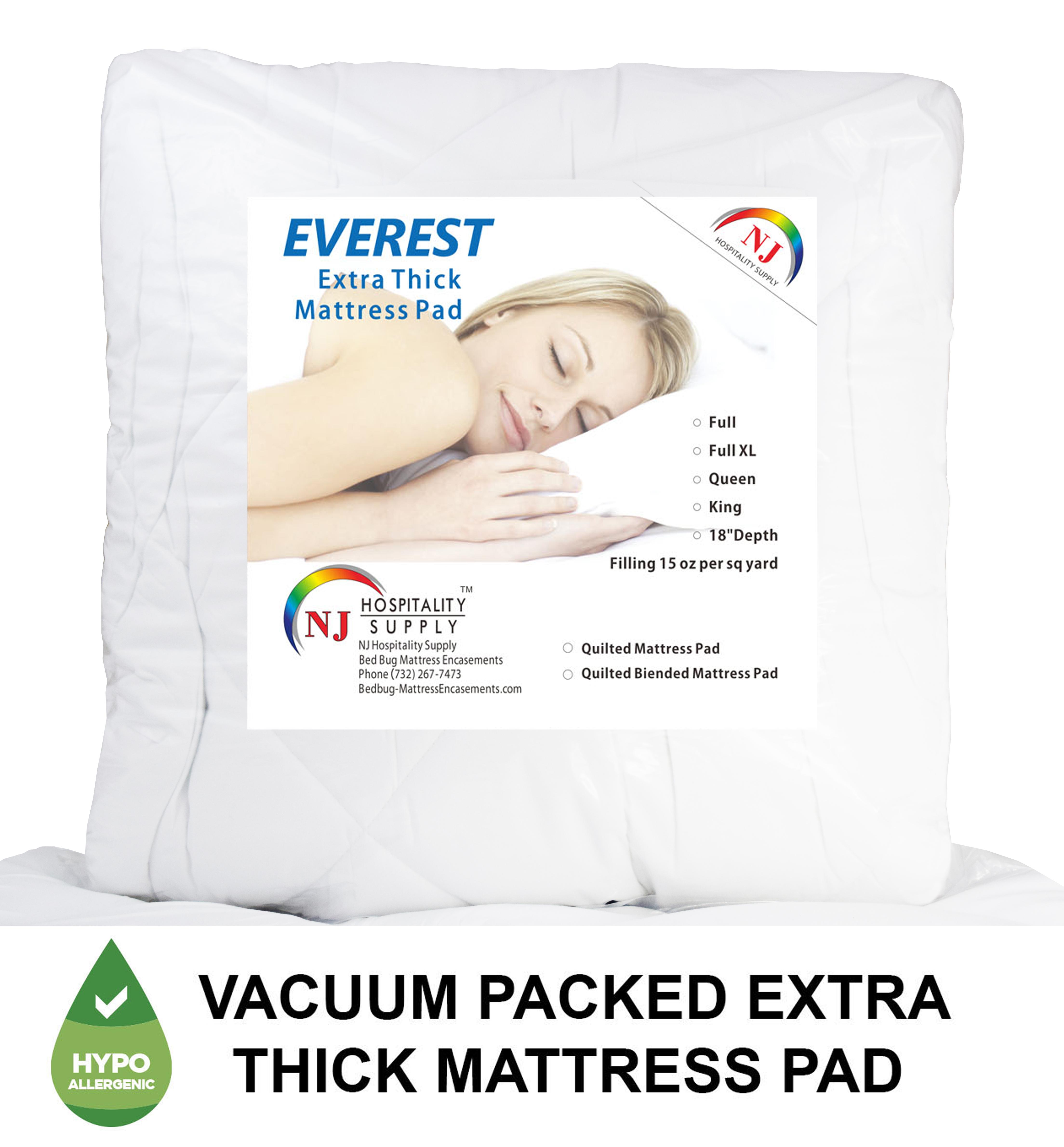 thick mattress pad. Simple Mattress 1 FULL Mattress Pad 15oz 54u2033x75u2033 18u2033Depth2 Standard Pillow  ProtectorsEncasement Inside Thick R