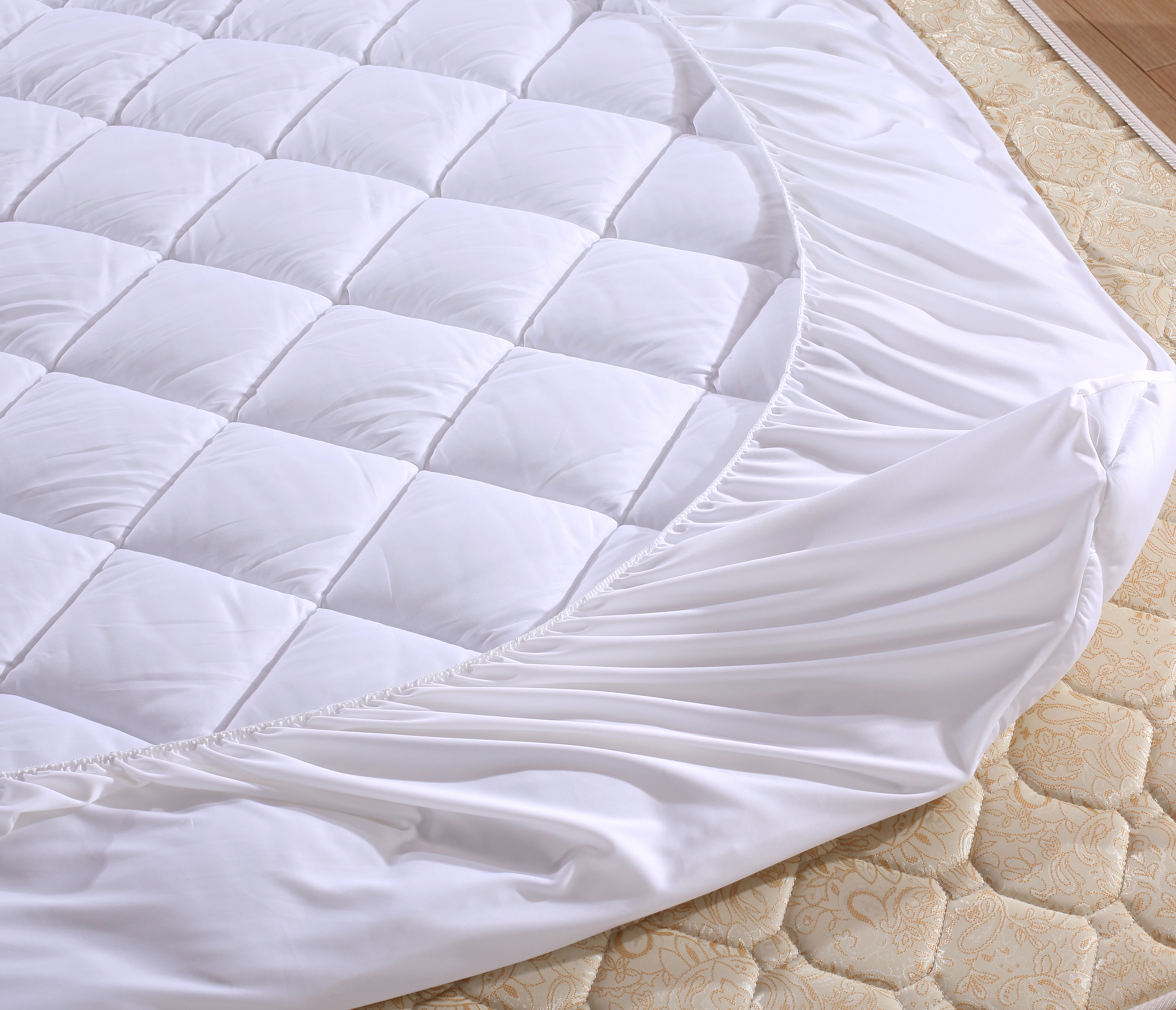 index mattress cotton detail bed toppers protector protectors pillow